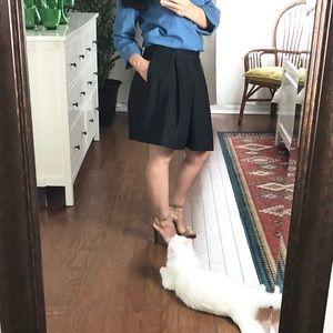 Zara Basic skater side pocket black skirt